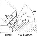 Formmesser 4099 C, 45°, Sitzbreite 1,3 mm, Sondermesser