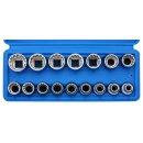 1/2 socket set, 12-point, multi-profile, 16 pcs.