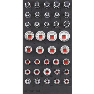 1/3 SFS 1/2 hexagon socket, TX & Socket set SAE, 38 pcs.