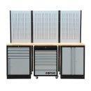 MSS 2193 mm wall unit with wooden worktop