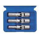 3/8 spark plug socket wrench set, 3-piece.