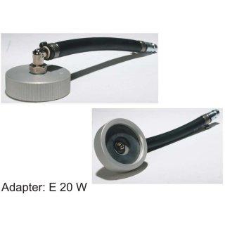 Adaptador E 20 W, con conexión en ángulo