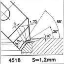 Cuchilla perfilada SK 4518 A