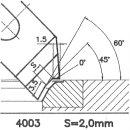 Couteau de forme 4444 A, 45°
