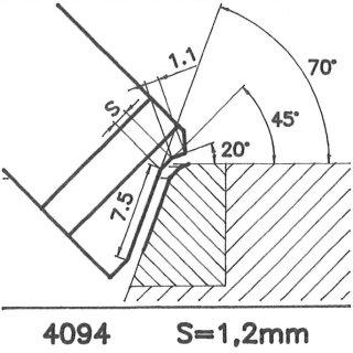 Cuchilla perfilada SK 4094 A