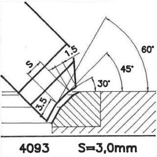 Cuchilla perfilada SK 4093 B