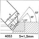 Formmesser 4053 B, 45°, Sitzbreite 1,5 mm