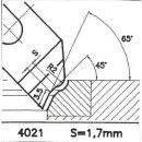 Formmesser 4021 A. 45°, Sitzbreite 1,7 mm