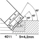 Cuchilla perfilada SK 4011 B