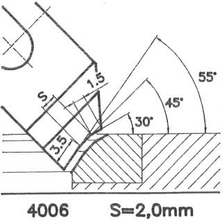 Cuchilla perfilada SK 4006 BX