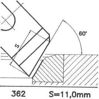 Formmesser 362 AX, 60°, Sondermesser