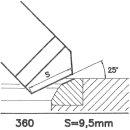 Outil de façon SK 360 BX