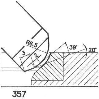 Formmesser 357 BX, 39°, Sondermesser