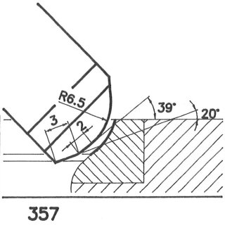 Cuchilla perfilada SK 357 B