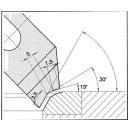 Formmesser 210 C, 30°, Sitzbreite 1,0mm