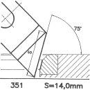 Cuchilla perfilada SK 351 A