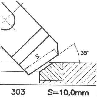 Formmesser 303 B, 35°, Sitzbreite 10,0 mm